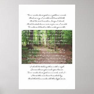 Robert Frost - The Road Not Taken Print