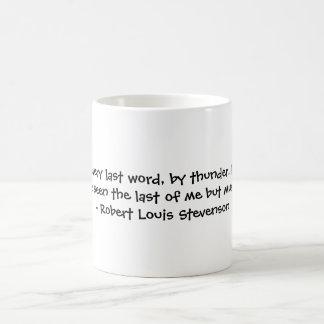 Robert Louis Stevenson Basic White Mug