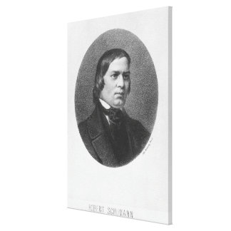 Robert Schumann, 1839 Canvas Print