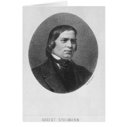 Robert Schumann, 1839 Greeting Card