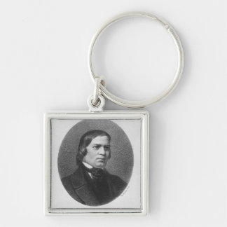 Robert Schumann, 1839 Silver-Colored Square Key Ring