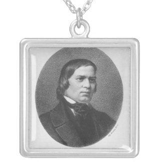 Robert Schumann, 1839 Square Pendant Necklace
