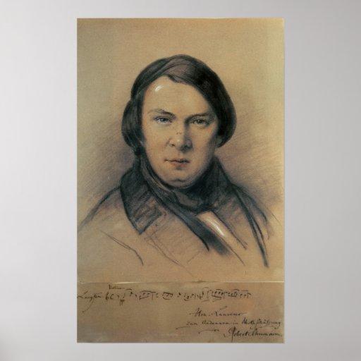 Robert Schumann  1853 Print
