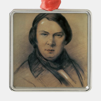 Robert Schumann  1853 Silver-Colored Square Decoration
