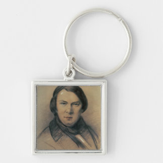 Robert Schumann  1853 Silver-Colored Square Key Ring