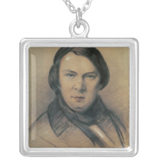 Robert Schumann  1853 Square Pendant Necklace