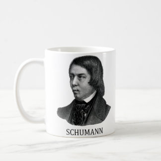 Robert Schumann, black Coffee Mug