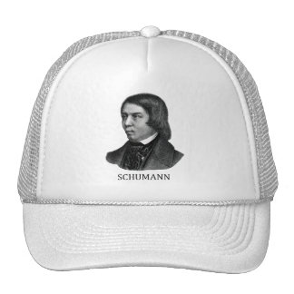 Robert Schumann, black Mesh Hat
