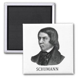 Robert Schumann, black Square Magnet