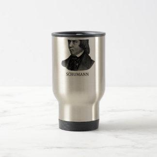 Robert Schumann, black Travel Mug