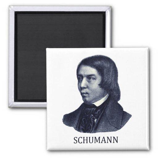 Robert Schumann, blue Refrigerator Magnets