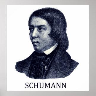 Robert Schumann, blue Posters
