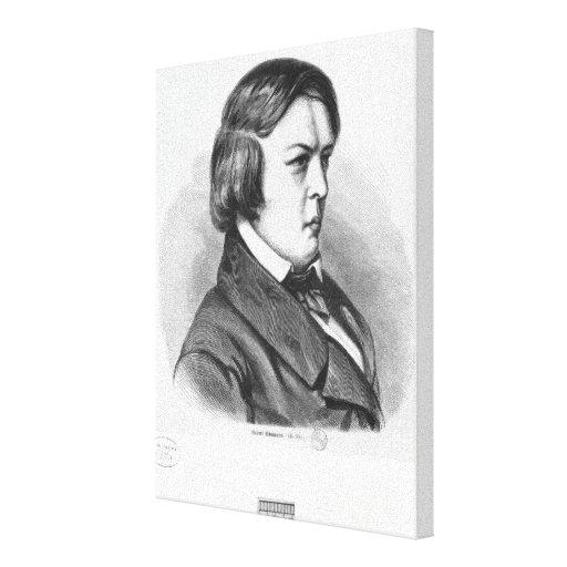 Robert Schumann Stretched Canvas Prints