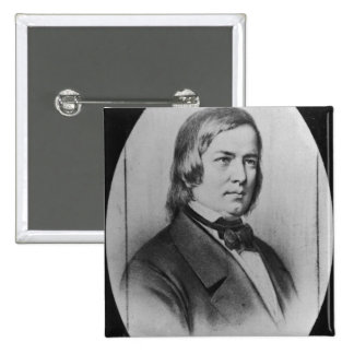 Robert Schumann  engraved from a photograph 15 Cm Square Badge