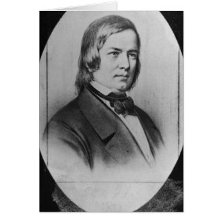 Robert Schumann  engraved from a photograph Card