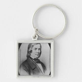 Robert Schumann engraved from a photograph Key Chain