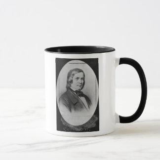Robert Schumann  engraved from a photograph Mug