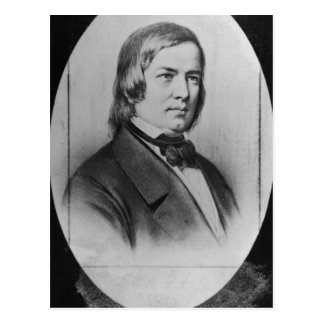 Robert Schumann  engraved from a photograph Postcard