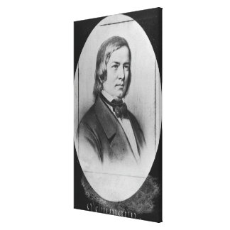 Robert Schumann  engraved from a photograph Stretched Canvas Print