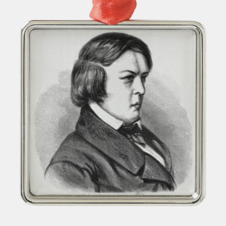 Robert Schumann Silver-Colored Square Decoration