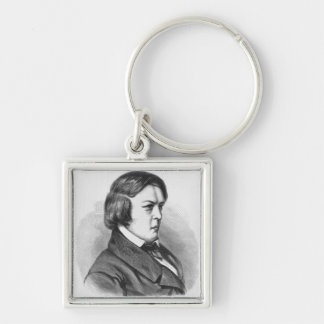 Robert Schumann Silver-Colored Square Key Ring