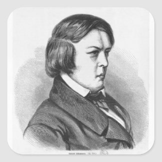 Robert Schumann Square Sticker
