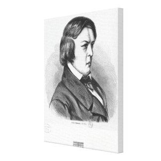 Robert Schumann Stretched Canvas Print