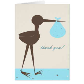 Robin's Egg Stork Baby Shower Thank You Cards