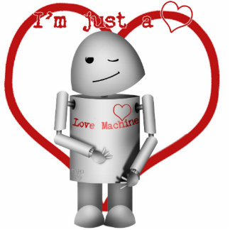 Robo-x9 Love Machine (With Heart) Photo Cut Outs