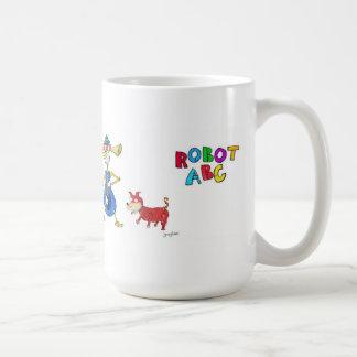 Robot ABC coffee mug by Jerry Hunt