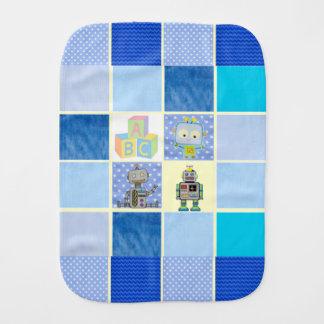 Robot Blues Baby Burp Cloth