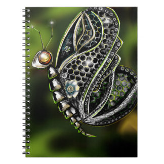 Robot Butterfly Spiral Note Book
