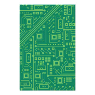 Robot Circuit Board Stationery