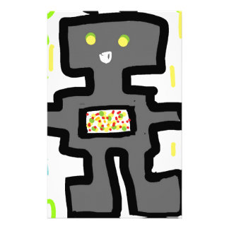 robot drawing cartoon stationery
