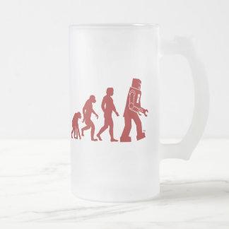 Robot Evolution of man into robot Mug