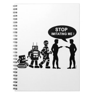 Robot evolution spiral notebooks