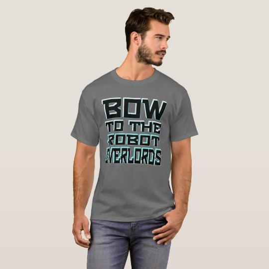 """""""Robot Overlords"""" Men's Basic Dark T-Shirt"""