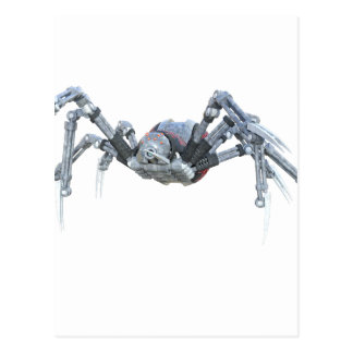 Robot Spider In Grey, Red and Silver Postcard