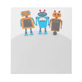 Robot Trio Notepad