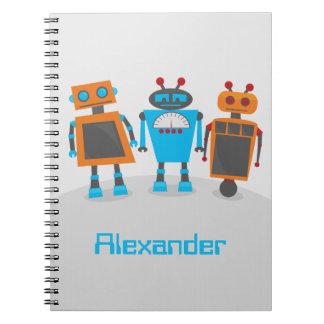Robot Trio Spiral Notebook