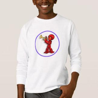Robot with trumpet cartoon.  t-shirt. T-Shirt