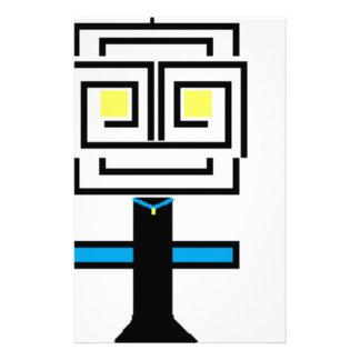 robotic cartoon stationery