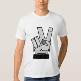 Robotic Hand showing Peace Sign T-Shirt