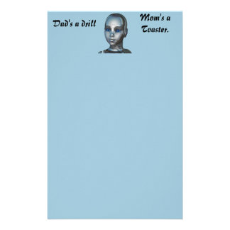 Robotic Metal Head Stationery