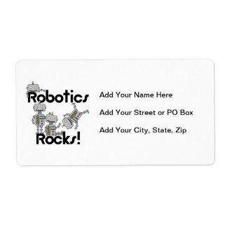 Robotics Rocks Shipping Label