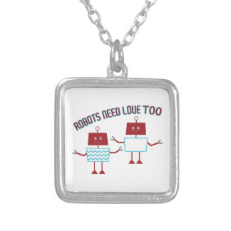 Robots Need Love Pendants