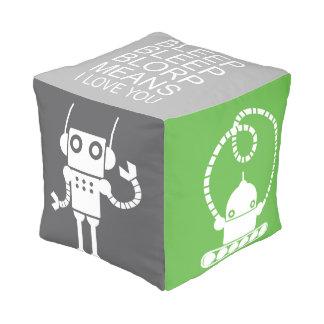 Robots pouf - Nursery Decor - Decorative pouf