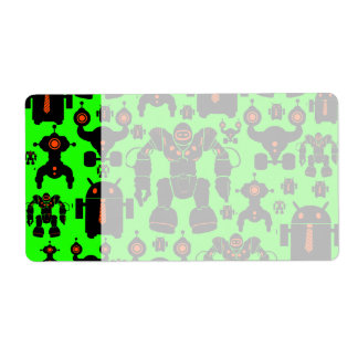 Robots Rule Fun Robot Silhouettes Lime Green