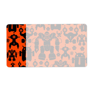 Robots Rule Fun Robot Silhouettes Orange Robotics