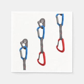 Rocck Climb Abseil Belay Carabiner Disposable Serviettes